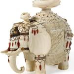 Milk porcelain elephant