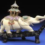 Handsculpted porcelain elephant