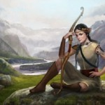 A real hero of Altai, beautiful and brave princess