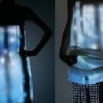 video dress designed by Turkish designer Hussein Cahalayan