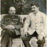 'Lenin and Stalin in Gorky, 1922′ by unknown artist, Russian, 1949, gelatin silver print with applied media, Ryna and David Alexander