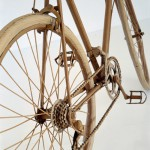 Bicycle. Cardboard sculpture by British artist Chris Gilmour