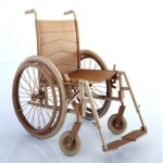 A wheelchair. Cardboard sculpture by British artist Chris Gilmour