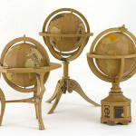 Globes. Cardboard sculpture by British artist Chris Gilmour
