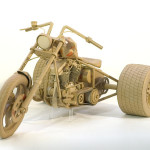 Old bike. Cardboard sculpture by British artist Chris Gilmour