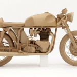 Bike. Cardboard sculpture by British artist Chris Gilmour