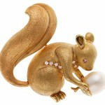 Squirrel Art Deco jewelry