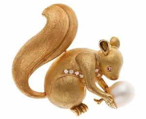 Squirrel Art Deco jewelry