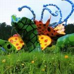 Fantastic Polka dot sculptures