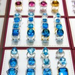 Rings with precious stones