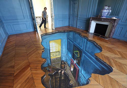 Nikolaj Arndt 3D art inside a house