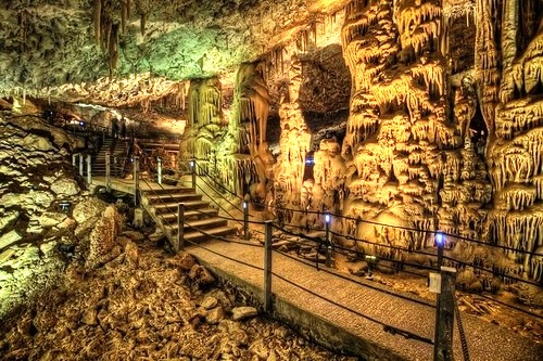 Beautiful stalactite cave Avshalom
