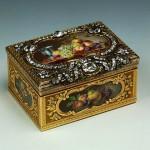 Gold, silver, enamel, diamonds, emeralds, embossing, engraving, painting, pouncing. Dyukroley, Jean. France. Paris. 1760