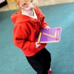 The world's smallest girl Charlotte Garside, 68 cm tall and weighing less than 4 kg