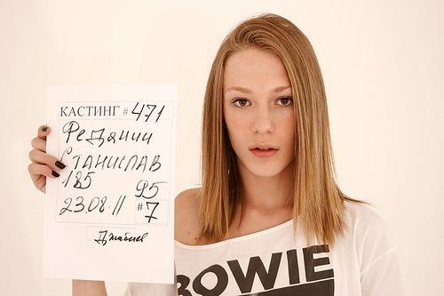 Stas Fedyanin a boy working as a female model