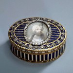 Snuff-Box with a Portrait of the Turkish Sultan Abdul-Hamid Gold, silver, cut and uncut diamonds, glass, miniature, enamel; chased, engraved and painted