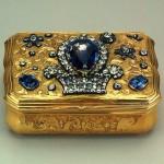 Gold, silver, diamonds, sapphires, quartz, casting, stamping, engraving. Pauzie, Jeremiah. Russia. St. Petersburg. Mid-18th century
