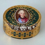 Snuff box with a portrait of Grand Duke Paul Petrovich Gold, silver, diamonds, enamel, stamping, painting. Ador, Jean Pierre. Russia. St. Petersburg. 1774