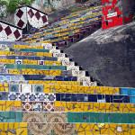 Escadaria Selaron and staircase art