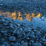 Bow River Reflection Banff National Park, Alberta, Canada
