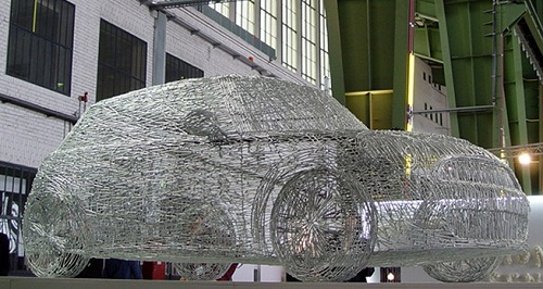Mini Cooper S made from 7000 nails