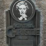A plaque dedicated to Agatha Christie in Torquay, where she lived most of her life. The city now has an 'Agatha Christie Mile' which covers local sites of significance to her life and works