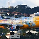 Yellow and blue Aircraft graffiti