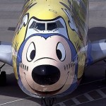 Cartoon character in Aircraft graffiti