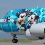 Mickey with his girlfriend Minnie, aircraft graffiti