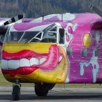 Smiling Aircraft, graffiti