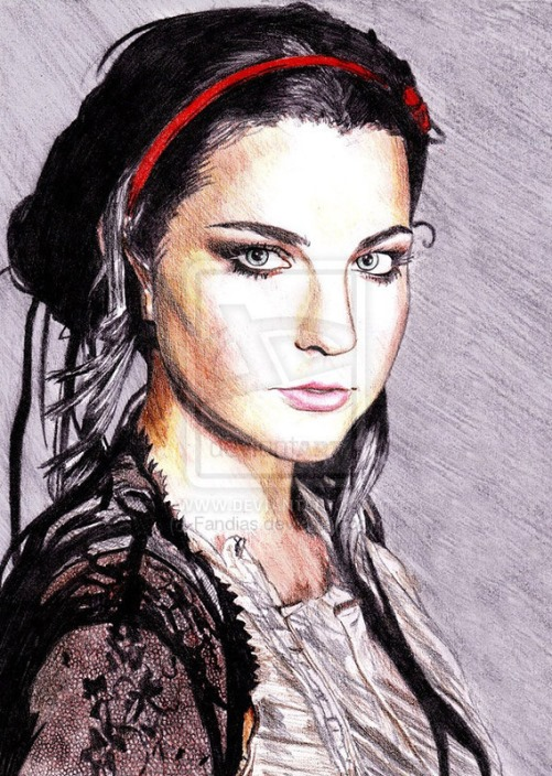 Amy Lee. Vector portrait by Indonesian artist Andias Rakhman