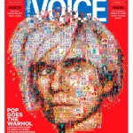 Andy Warhol: 25 years later… for Village Voice. Mosaic portrait of Andy Warhol for the cover of Village Voice for the 25th anniversary of Andy's death