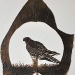 Falcon. Artful Leaf cutting by Spanish self-taught artist Lorenzo Duran