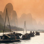 Boatmen on the River Lee in China