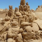 Composition of numerous sand sculptures, undoubtedly, worth seeing