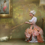 Playing with a cat. Beautiful fantasy world in photoart of Russian photographer Vladimir Fedotko