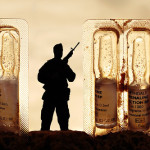 A soldier and capsules. Photographer Hermin Abramovitch, Israel
