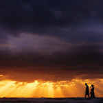Walking at the sunset. Photographer Hermin Abramovitch, Israel