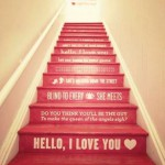 Beautiful romantic staircase