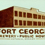 Fort George Brewery and public house. Beer painting by American artist Karen Eland