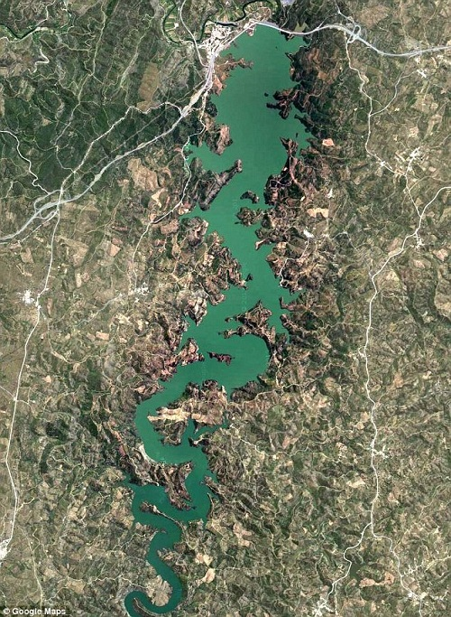 Blue dragon river on Goggle maps