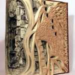 Biology. Conceptual sculptures from books by American artist Brian Dettmer