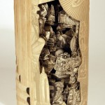 Creative sculptures from books by American artist Brian Dettmer