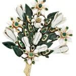 Brooch bouquet of lilies