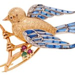 Art deco brooch Bird