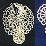 Butterflies - delicate, braided with pearls in the form of a butterfly's wings