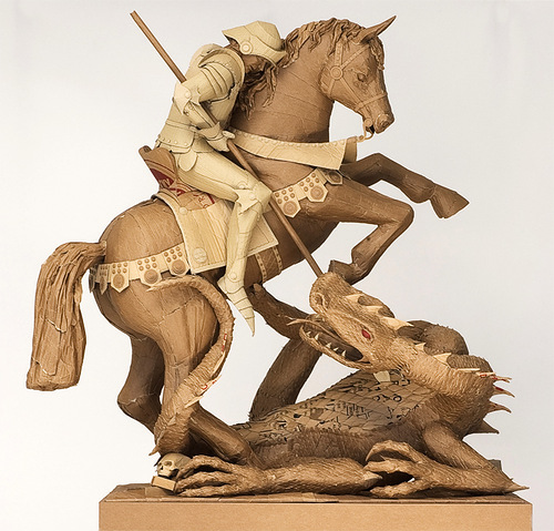 Cardboard sculptures by Chris Gilmour