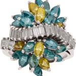 Colored Diamond, Diamond, White Gold Ring