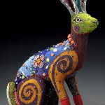 A hare. Huichol beadwork