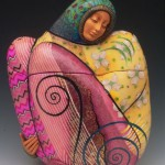 Wonderful Evening Bags by American clay artist Kathleen Dustin